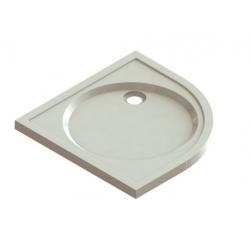 banio design proton tub de douche quart de rond en solid surface blanc 90x90x3 5cm. Black Bedroom Furniture Sets. Home Design Ideas