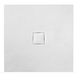 Banio Design Krypton Receveur de douche en imitation pierre Blanc - 90X90X3
