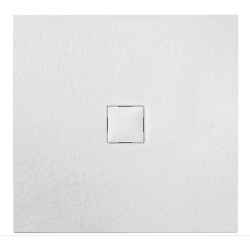Banio Design Kryptos Receveur de douche en imitation pierre Blanc - 90X90X3