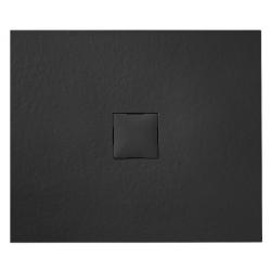 Banio Design Kryptos Douchebak in polybeton steenimitatie Graniet - 90x90x3cm