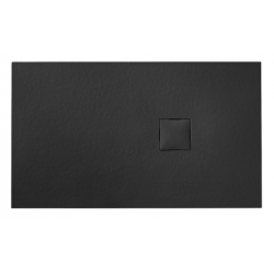 Banio Design Kryptos Douchebak in polybeton steenimitatie Graniet - 140x90x3cm