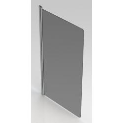 Banio Design Megalo Paroi de bain 1 volet avec profil chromé - 75x130cm