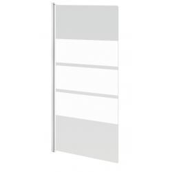 Banio Design Nera Badwand 1-delig met wit profiel - 85x145cm