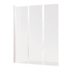 Banio Design Malio Paroi de bain 3 volets avec profils blanc - 130x140cm