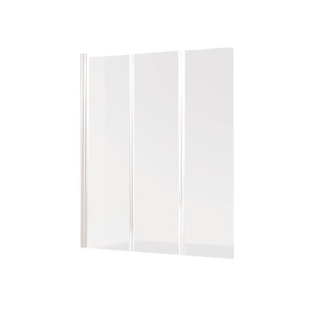 Badklapwand 3 Delig.Banio Design Malio Badwand 3 Delig Met Witte Profielen 130x140cm