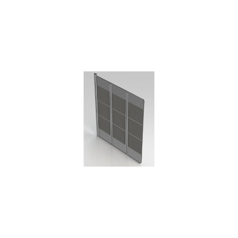Badklapwand 3 Delig.Banio Design Balof Badwand 3 Delig Met Verchroomde Profielen 130x140cm