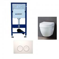 Pack WC suspendu Geberit duofix avec cuvette soft-close complet