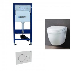 Geberit up320 Pack WC suspendu avec abattant soft-close complet