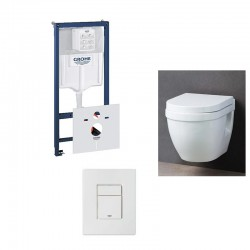 Grohe-Pack WC suspendu rapid SL avec cuvette soft-close complet