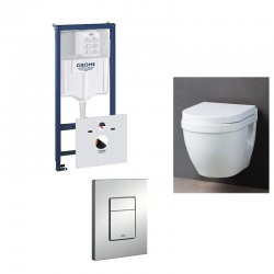 Grohe Pack WC suspendu rapid SL avec cuvette soft-close complet