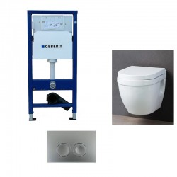 Geberit Pack WC suspendu Geberit duofix avec cuvette soft-close complet