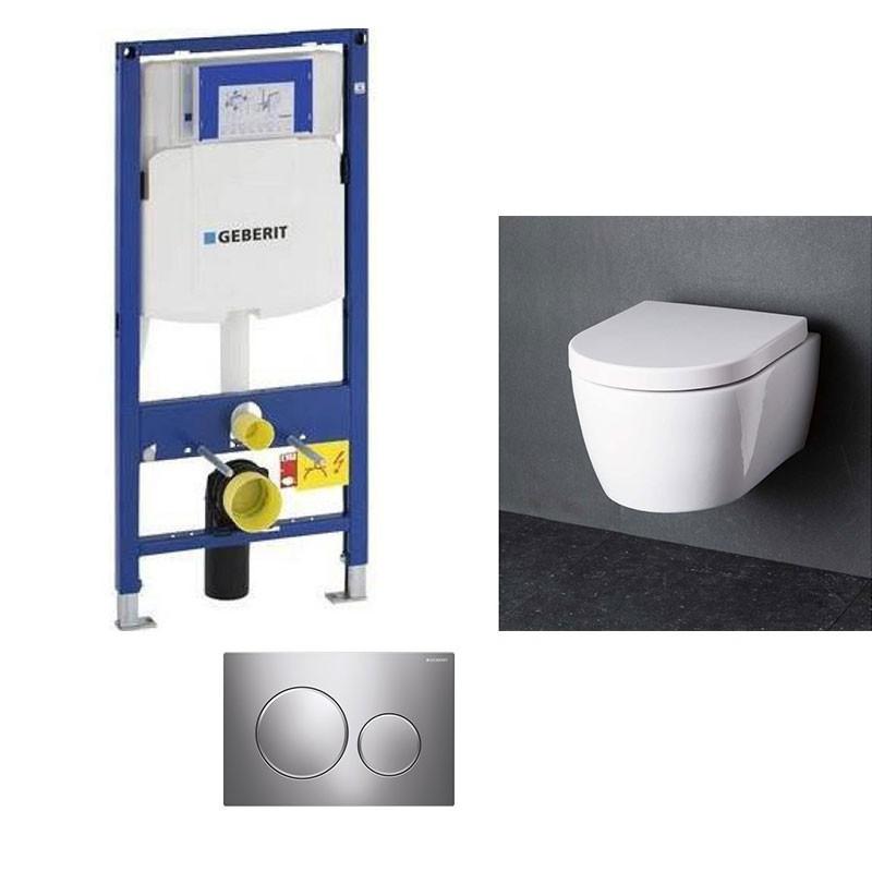 geberit pack wc suspendu blanc compact geberit duofix avec cuvette soft close complet. Black Bedroom Furniture Sets. Home Design Ideas