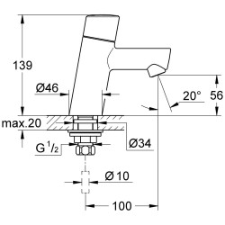 grohe concetto robinet de lave mains ecojoy chrom. Black Bedroom Furniture Sets. Home Design Ideas