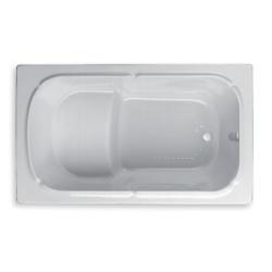 Banio Design-Bara Baignoire sabot en acrylique Blanc + pieds - 120x70cm