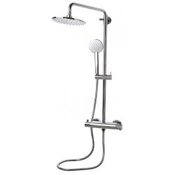 Banio Design-Dynamis Colonne de douche en laiton chromé - 35x26x95-130cm