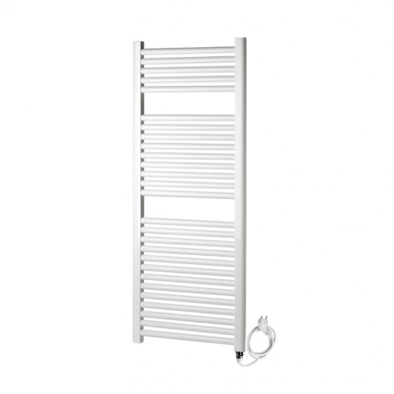 radiateur s che serviette lectrique 50x150 cm blanc banio. Black Bedroom Furniture Sets. Home Design Ideas