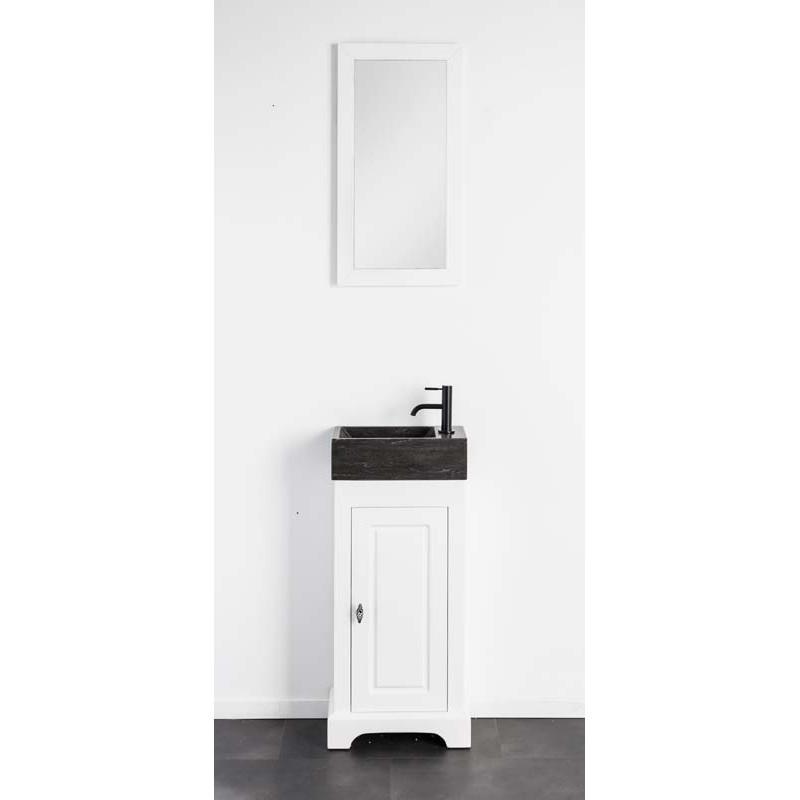 meuble lave mains banio jane couleur blanc hauteur 79 largeur 42 4 profondeur 23 5. Black Bedroom Furniture Sets. Home Design Ideas