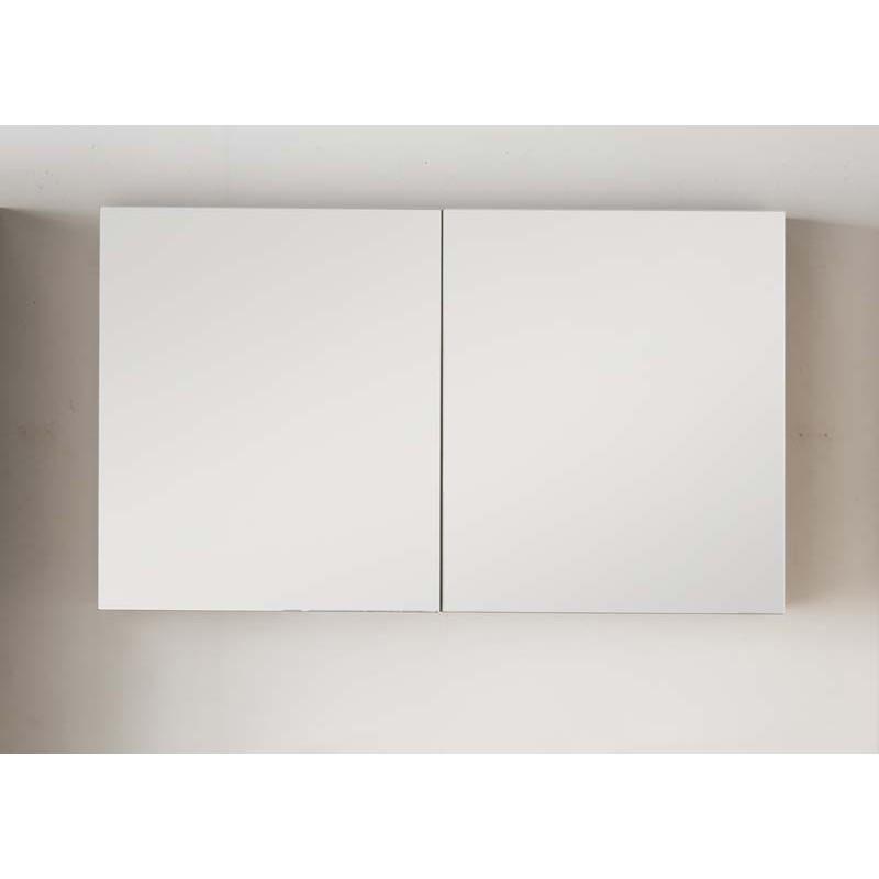 Miroir Avec Armoire Pour Meuble De Salle De Bain Banio Tony Couleur: Blanc  Hauteur 70 Largeur 120 Profondeur 16