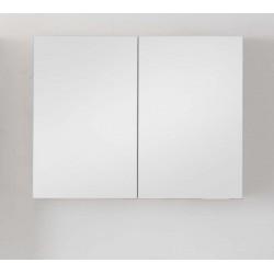 Miroir avec armoire pour meuble de salle de bain Banio-Tony Couleur: Blanc Hauteur 70 Largeur 90 Profondeur 16
