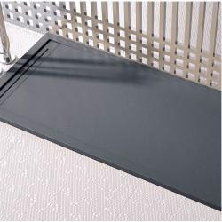 Banio-Cach receveur de douche minérale gel-coat extra plat  90x120 Ardoise anthracite