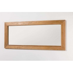 Spiegel voor badkamermeubel Banio-Flamant in licht eiken kleur - 70x160x3,8 cm