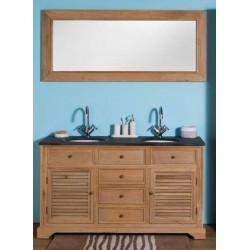 Banio-Alain Badkamermeubel in lichte eiken kleur met spiegel 150x55x86cm