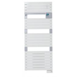 Banio-Asama Ventilo Radiateur sèche-serviettes électrique ventilo Blanc 500+1000 Watt - 55x101cm