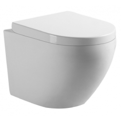 Banio-Gary WC suspendu compact sans bride avec abattant easyrelease - Blanc
