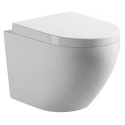 Banio-Gary WC suspendu compact sans bride rimless avec abattant softclose et easyrelease - Blanc