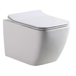 Banio-Gert Compacte Hang wc met ultradunne bril easyrelease - Wit