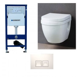 Geberit Pack WC suspendu Complet duofix avec cuvette soft-close