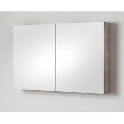 Spiegelkast voor badkamermeubel Banio-Dante Eiken-betonlook met 2 deuren - 67x120x15 cm