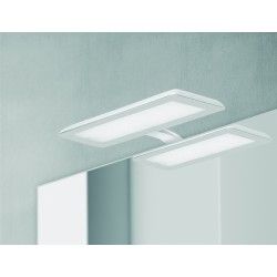Eclairage LED Banio-Nikita pour armoire/miroir Blanc/Acier - 10W, 1870Lm