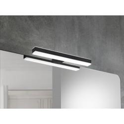 Eclairage LED Banio-Veronica pour armoire/miroir Noir - Largeur 28,4 cm, 8W, 550Lm