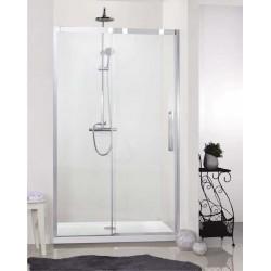 Porte de douche Banio-Udo avec profil Chromé - 1360-1390x2000x8mm