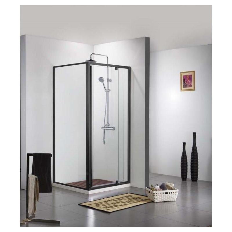 porte de douche noir et paroi de douche noir banio urian. Black Bedroom Furniture Sets. Home Design Ideas