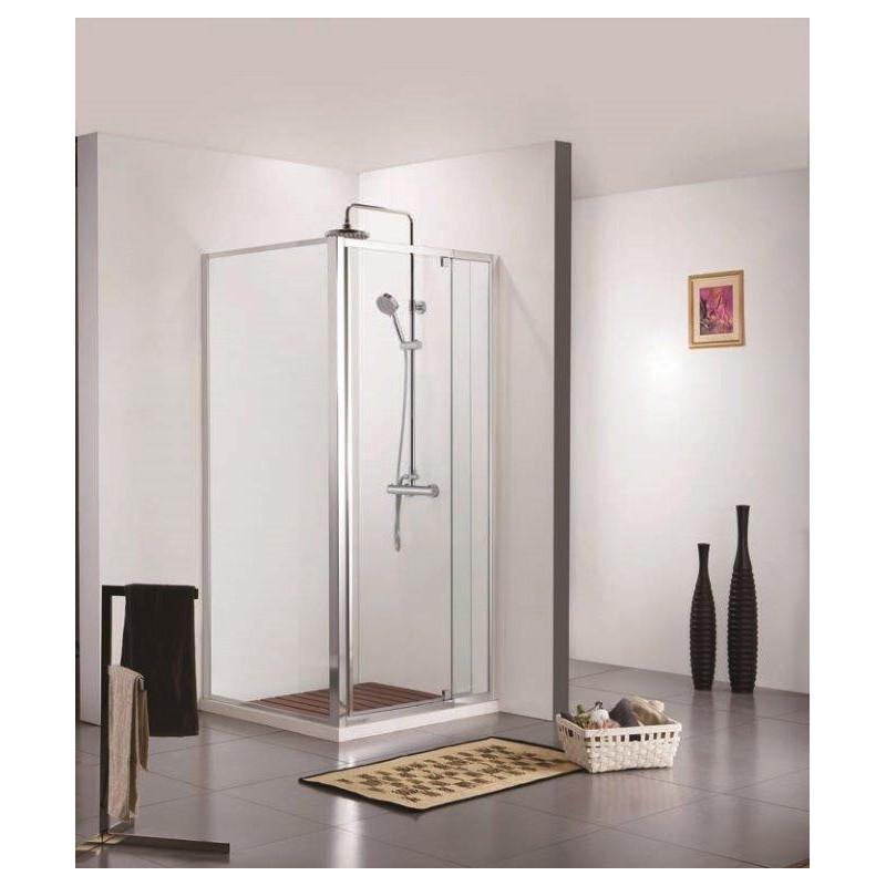 porte de douche avec paroi de douche banio urian chrom. Black Bedroom Furniture Sets. Home Design Ideas