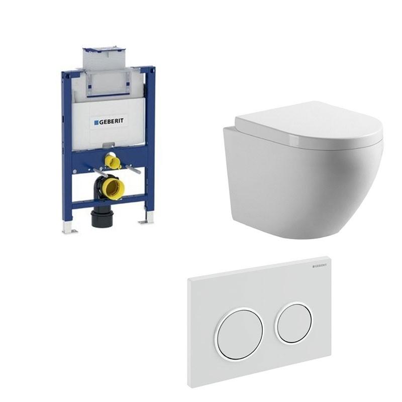 geberit pack wc suspendu blanc avec duofix omega et touche blanc complet. Black Bedroom Furniture Sets. Home Design Ideas