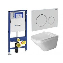 Pack Geberit avec Duravit pack WC suspendue durastyle rimless et durafix 560 x 400 x 430 mm