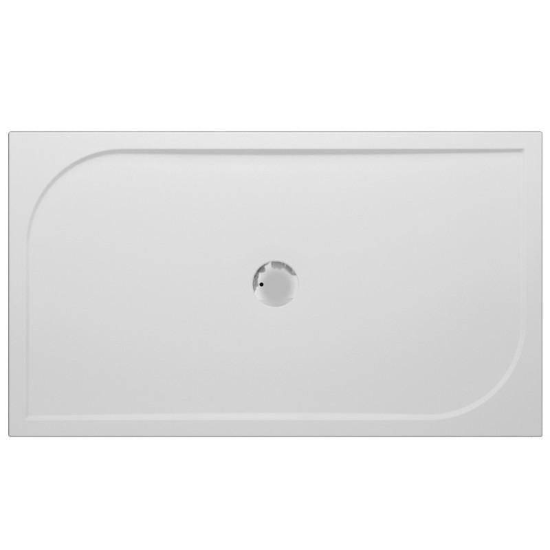 Banio Design Argon Receveur De Douche En Polybeton Gelcoat Blanc 100x80x3cm