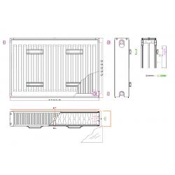 radiateurs panneaux banio type 22 couleur blanc hauteur 50 cm largeur 160 cm. Black Bedroom Furniture Sets. Home Design Ideas