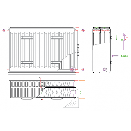 radiateur sche serviettes de salle de bainchez banio salle de bain - Douche Italienne Dimension1752