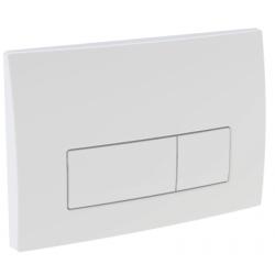 Geberit Delta 51 plaque de commande avec 2 touches Blanc