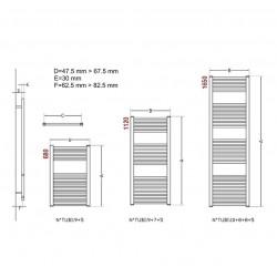 radiateur s che serviette 40x77 cm chauffage centrale blanc banio. Black Bedroom Furniture Sets. Home Design Ideas