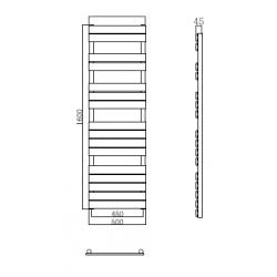 radiateurs s che serviette banio xerxes couleur blanc hauteur 160 cm largeur 50 cm. Black Bedroom Furniture Sets. Home Design Ideas