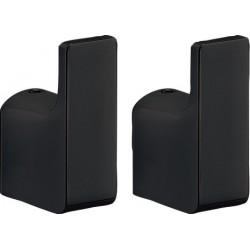 Gedy Pirenei 2 Haken 2x3,3x5,3 cm - Zwart