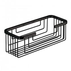 Gedy porte-objet en acier inoxydable 25,2x10,2x8,6 cm - Noir