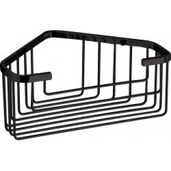 Gedy Porte-objets d'angle pour douche 20x15,1x8 cm - Noir