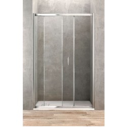 Porte de douche coulissante de 100 cm de large vitrage 6 mm securit