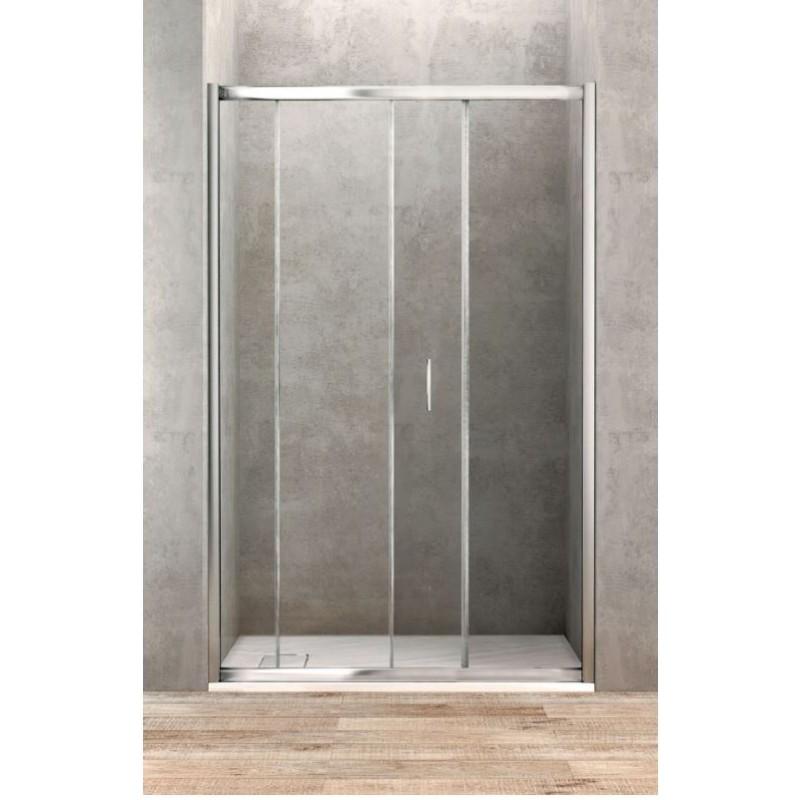 porte de douche coulissante de 100 cm de large banio salle de bain. Black Bedroom Furniture Sets. Home Design Ideas